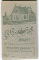 DENMARK Danmark Ørbæk Station Fotograf K.P.Christiansen Auf Rückseite CDV Visitkortstørrelse / Ikke Postkort C. 1900 - Fotos