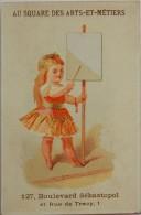 CHROMO ANCIEN FABRIQUE DE CHALES AU SQUARE DES ARTS ET METIERS BLD SEBASTOPOL PARIS ENFANTS - Cromo