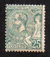 MONACO - Albert 1er -  1891/94 -  25 Cts Vert - Neuf   Cat Yvert N° 16  -  Bon état -  Rare - Monaco