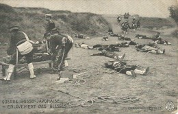 Removal Of The Wounded Russian-Japanese War Of 1904 French Postcard Enlevement Des Blesses - Army & War