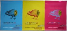 """Lot 3 affiches ART, GRAPHISME, CENTRE DE L'AFFICHE DE TOULOUSE /  C. CABIROL : """"PETITE(S) HISTOIRE(S)""""/ bon �tat"""