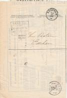 146/24 - Premier Mois De Guerre - Avis De Non-Livraison Chemins De Fer GENT 3 Et GAND SUD 14 Aout 1914 Vers ESSCHEN - Invasion