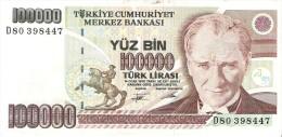 Turkey - Pick 205 - 100.000 Lira 1991 - VF - Turchia