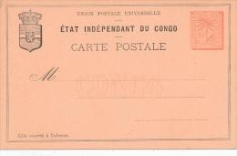 ETAT INDEPENDANT DU CONGO - Carte Postale - Ganzsachen