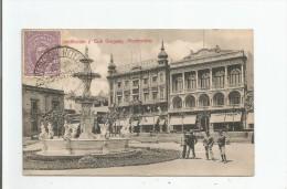 PLAZA CONSTITUCION Y CLUB URUGUAY MONTEVIDEO 1913 - Uruguay