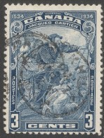 Canada. 1934 Fourth Centenary Of Discovery Of Canada. 3c Used. SG332 - 1911-1935 Reign Of George V