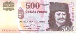 Hungary - Pick 188 - 500 Forint 2001 - Unc - Ungheria
