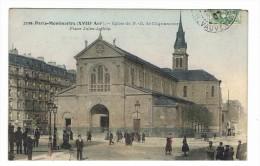 CPA 75 PARIS 18 Eme Montmartre Eglise De N. D De Clignancourt Place Jules Joffrin - Distretto: 18