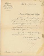 Lettre (1 Février 1900) Signé Georges Leygues, Ministre De L'Instruction Publique à M. Ricard, Député, Couilly... - Historische Documenten