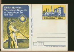 POLSKA - Intero Postale  - OSTROWIEC   FONDERIE - Fabbriche E Imprese