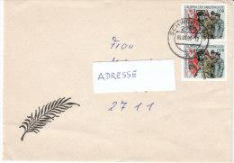 DDR 1988  MiNr. 3178 Paar auf Brief/ letter von 2750 SCHWERIN   35 Jahre Kampfgruppen