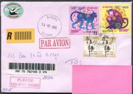 VIETNAM / Reko Brief Von Saigon Nach 8101 Gratkorn Vom 14.12.2015 - Vietnam