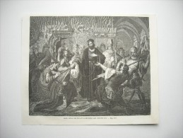 GRAVURE 1858. JEAN HUSS REFUSANT D'ABJURER SES DOCTRINES. - Colecciones