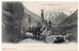 AUZAT Près Vicdessos - Route De Marc Et Le Montcalm - Attelage - (84247) - France