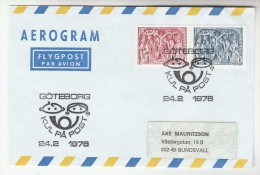 1976  SWEDEN AEROGRAMME  EVENT Pmk GOTEBORG 'KUL PA POST' Franked RELGIOUS ART ENGRAVING Stamps Cover - Sweden