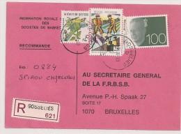 AANGETEKEND RECOMMANDE GOSSELIES 6041 1993 - Belgien