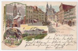 SOLOTHURN: 4-Bild-Litho 1899 - SO Soleure