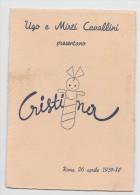 PARTECIPAZIONE BATTESIMO BIMBA CRISTINA  ROMA 26 APRILE 1937 - XV - Nascita & Battesimo