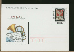 POLSKA - 440 LAT POCZTY POLSKIEJ  -  OROLOGIO  CLOCK - Orologeria