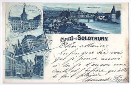 SOLOTHURN: 4-Bild-Litho Mit Hotel Couronne 1899 - SO Soleure