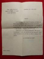 ISMAILIA FONDATION COMITE CROIX ROUGE FRANCAISE 1939 Mme CHIESA - Historical Documents