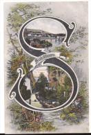 SOLOTHURN: ABC-Buchstaben-AK Mit 2 Bildern 1909 - SO Soleure