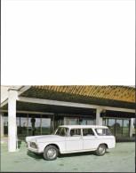 AUTOMOBILES - VOITURES DE TOURISME - PEUGEOT FAMILIALE 404 AVEC CARACTÉRISTIQUES - FORMAT CARTE POSTALE SE PLI EN DEUX - Voitures De Tourisme