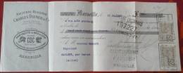 Mandat Ancienne Huilerie Charles DIEMER Marseille Pain Galette De Noix De Coco 11 Juillet 1912 - 1900 – 1949