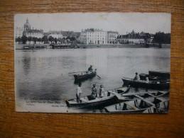 """Carte Assez Rare Chalon-sur-saône , La Saône Vers La Place Port-villiers  """" Carte Animée """""""" - Chalon Sur Saone"""