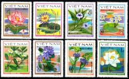 Vietnam 1980  MiNr. 1077/ 1084  ( *)/ Original Without Gum   Wasserblumen - Pflanzen Und Botanik