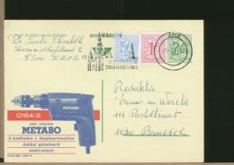 BELGIE - Cartolina Intero Postale - MECCANICA - TRAPANO  ELETTRICO  -  METABO - Fabbriche E Imprese