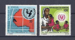 SENEGAL . YT 356/357 Neuf ** 25e Anniversaire De L'U.N.I.C.E.F. 1971 - Sénégal (1960-...)