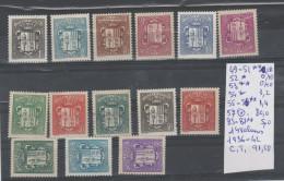 TIMBRE DE FRANCE ANDORRE ANNEE 1936-42  **/*/O 14 VALEURS Nr -  COTE 91,50€ - Neufs