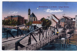 AK Brandenburg An Der Havel -seltene Litho !!! Mit Kutsche U. Menschen Auf Brücke   -selten !!! - Germania