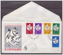 Surinam / Suriname 1966 FDC 46 Easter Rotary Lions Junior Chambre Logo Lion - Surinam