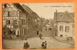 LOL246, Dannemarie, Route De Delle,  Animée, 4,  Circulée 1917 - Dannemarie