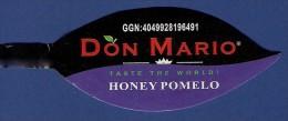 # DON MARIO HONEY POMELO Fruit Tag Balise Etiqueta Anhänger Cartellino Fruit Fruits - Fruits & Vegetables