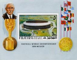 FUJEIRA - EMIRAT ARABE - BLOC CHAMPIONNAT DU MONDE DE FOOTBALL MEXICO 1970 - Fujeira