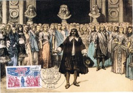 16717. Tarjeta Maxima PARIS 1980. Comedie Française. MOLIERE Literature - Cartas Máxima