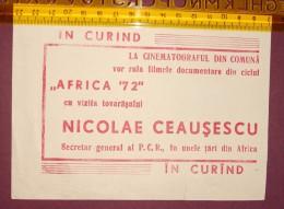 Romania - NICOLAE CEAUSESCU - cin�ma, CINEMA poster