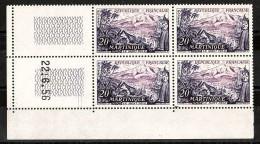 France - Coin Daté  22/6/56 Du N° 1041 - Neuf ** - Le Mont Pelé (Martinique) - 1950-1959
