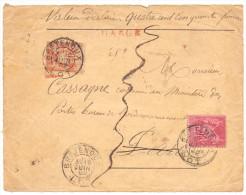 FRANCE DEVANT DE LETTRE CHARGE 450 FR TYPE SAGE DE BRETENOUX LOT POUR PARIS - 1849-1876: Période Classique