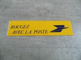 AUTOCOLLANT    BOUGEZ AVEC LA POSTE - Stickers