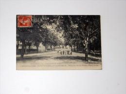 Carte Postale Ancienne : SAINT-MARCEL D'ARDECHE : Place Du Jeu De Boules, Place Du Bal, Animé, En 1910, TRES RARE - France