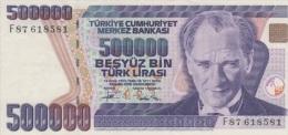 (B0128) TURKEY, 1993 (ND). 500000 Lira. P-208. XF - Turquie