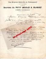 63 - CHATEAUNEUF LES BAINS- LETTRE MANUSCRITE- GABRIEL CONCESSIONNAIRE-EAU MINERALE -SOURCES DU PETIT MOULIN & ALIBERT- - France