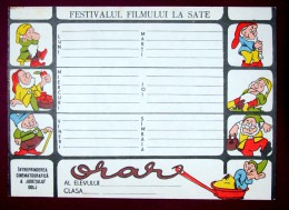 Romania - horaire hebdomadaire �cole - Walt Disney - cinema - blanc de neige