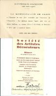 INVITATION MUSEE GALIERA PARIS MENU - Programma's