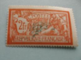 1907 : TIMBRE Type MERSON  No. 145 F , Orange Et Vert-bleu ,XX,( CENTRE Très DEPLACE)  Xx , En Très Bon état , - Variétés Et Curiosités