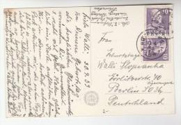 1939 SWEDEN Stamps COVER (postcard Goteborg Liseberg)  To Germany Cover - Sweden